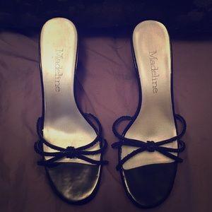 Black, Beaded, Kitten Heels